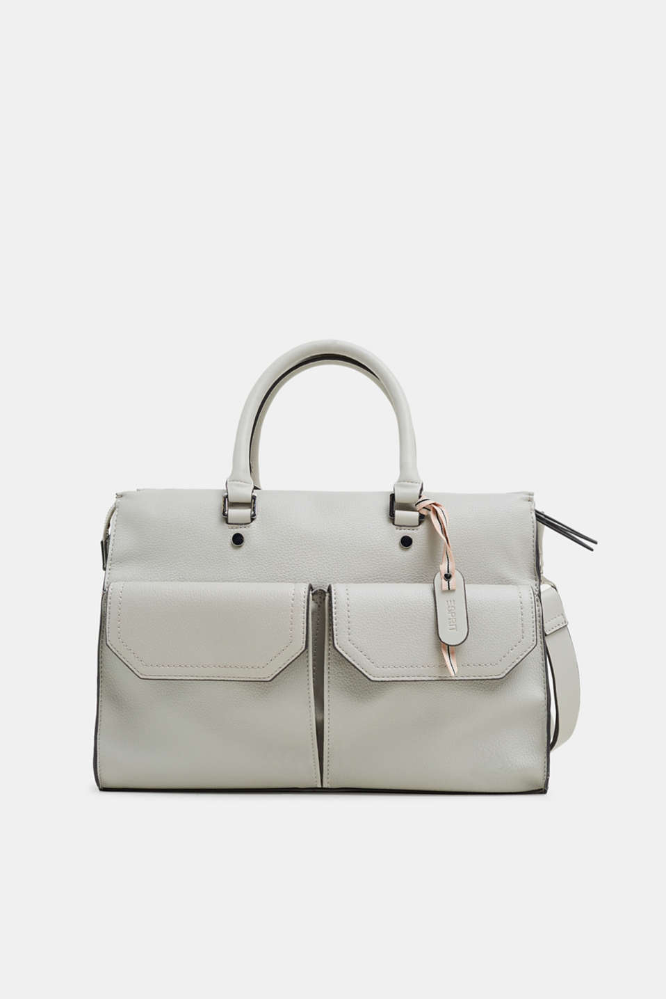 Esprit - Faux leather city bag with front pockets