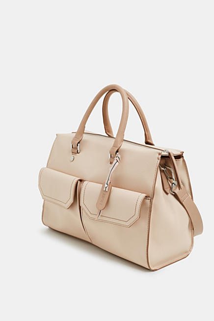 84ddf2916c Faux leather city bag with front pockets