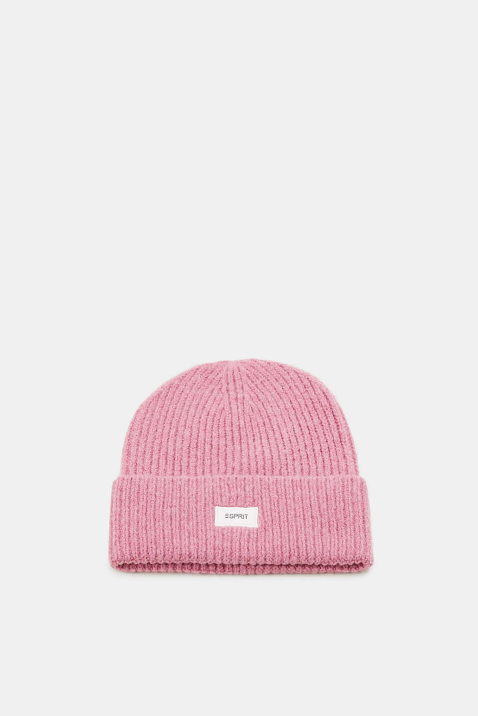 Esprit - Wool blend: rib knit hat
