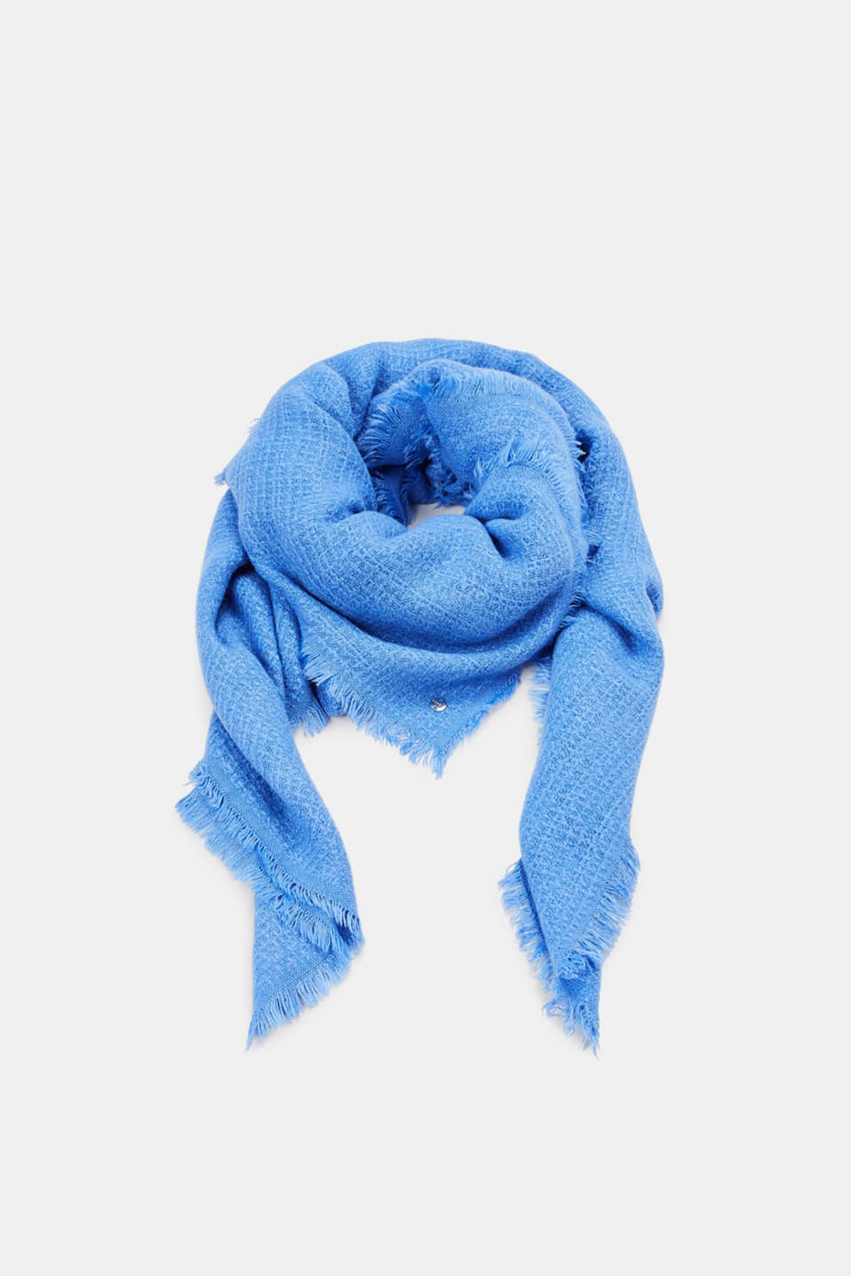 Esprit - Textured scarf with fine fringing