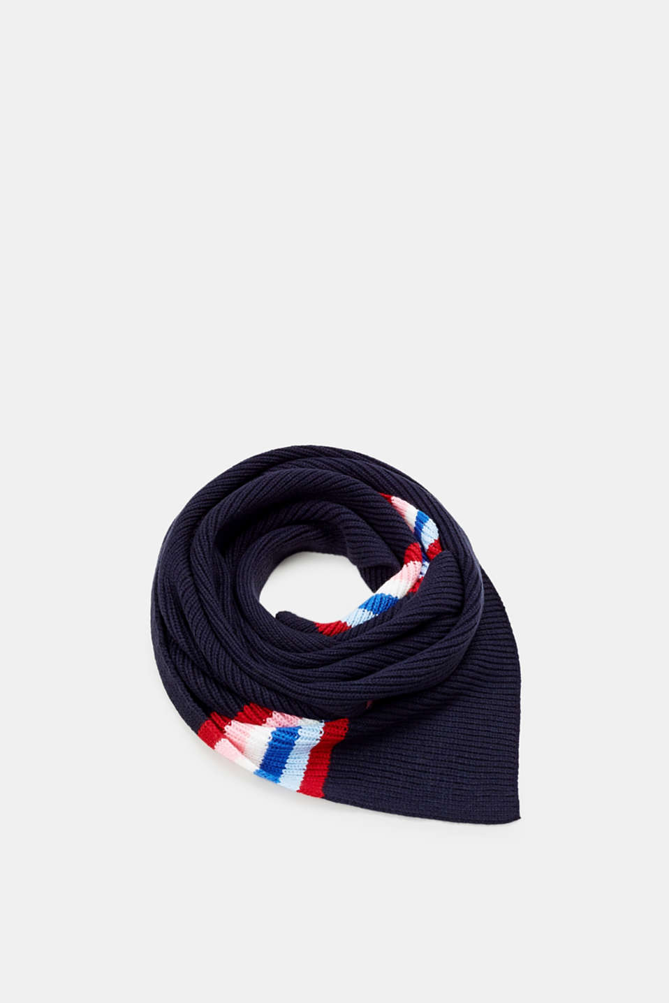 Esprit - Striped ribbed knit scarf