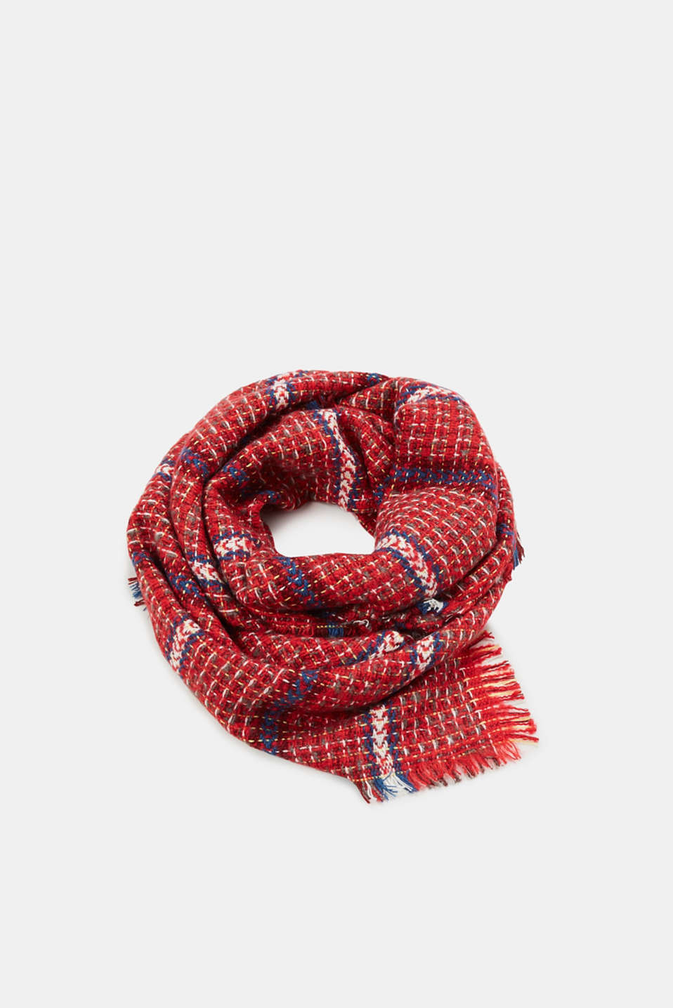 Esprit - Scarf with a woven pattern