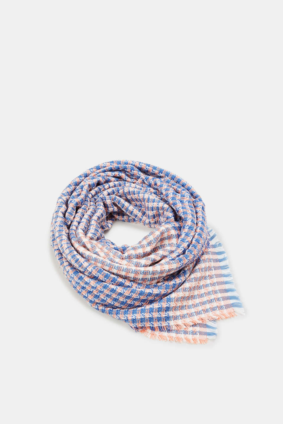 Esprit - XL scarf with a woven texture