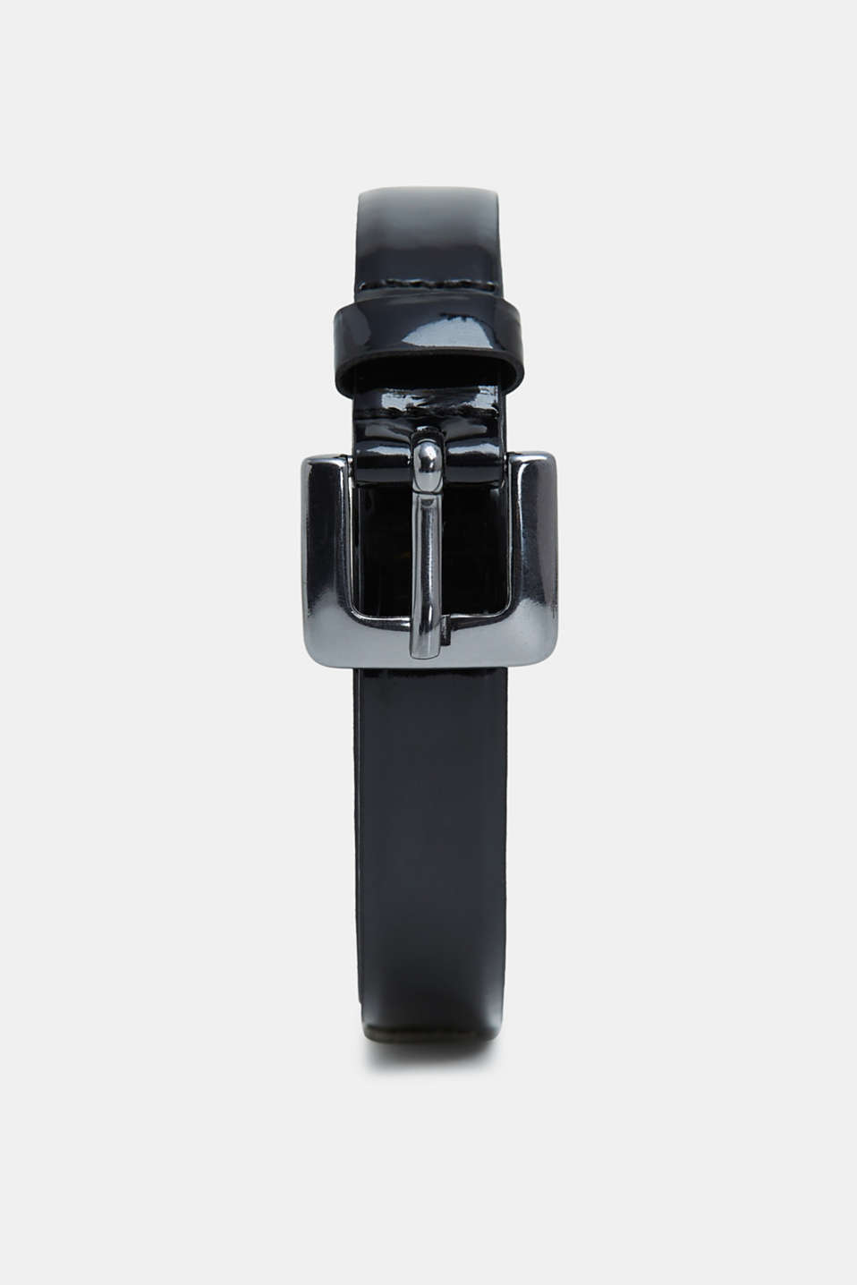 Esprit - Narrow belt made of faux patent leather