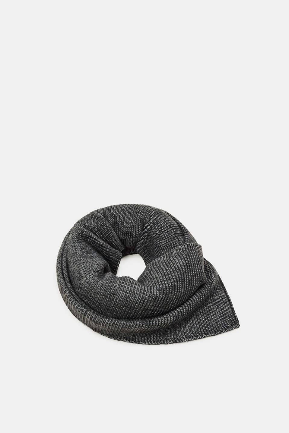Esprit - Washed-effect ribbed scarf