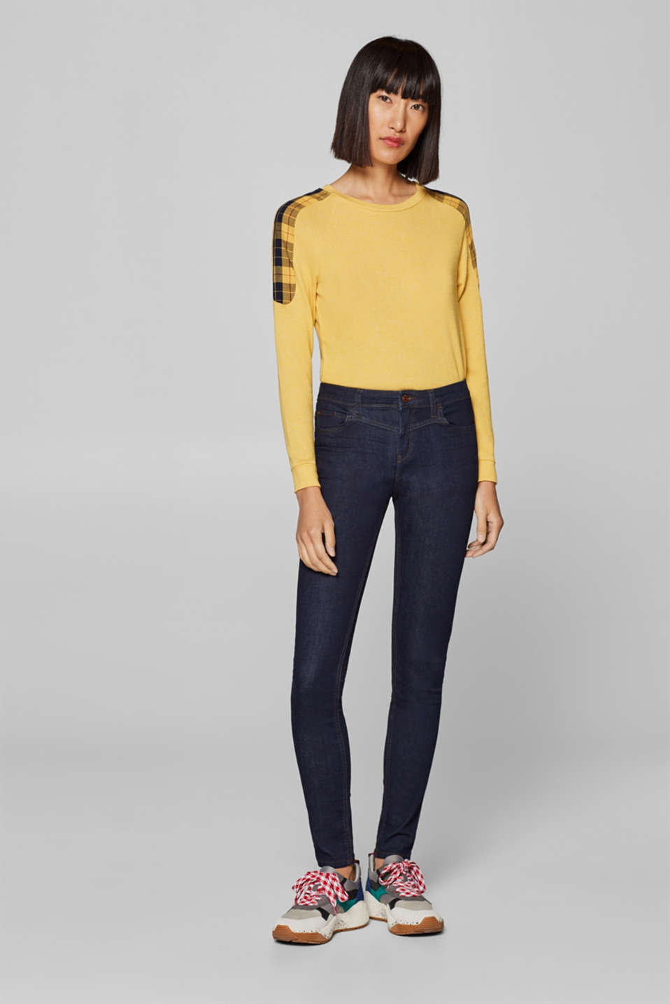 Esprit - Stretch jeans with figure-enhancing seams