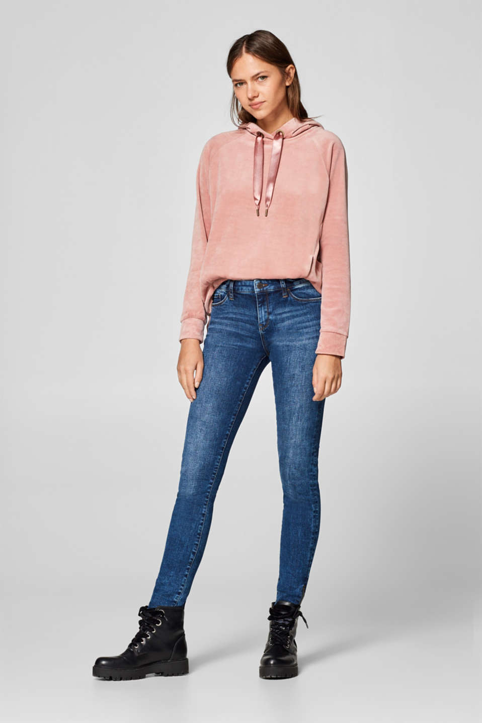 Esprit - Stretch jeans with side hem zips