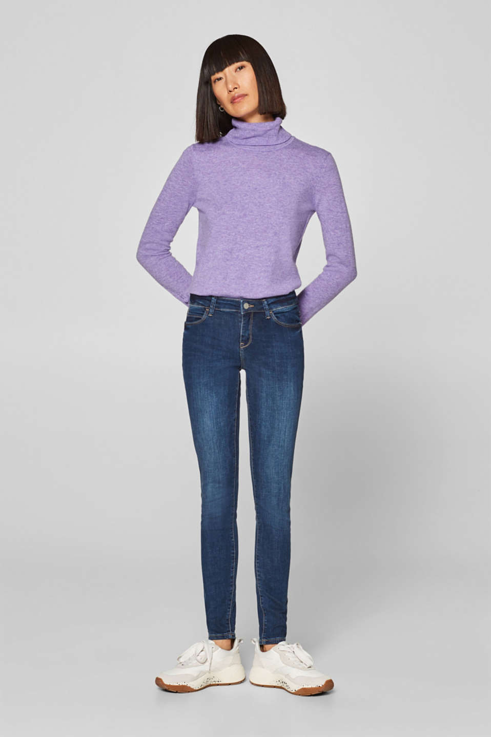 Esprit - Washed-look stretch jeans