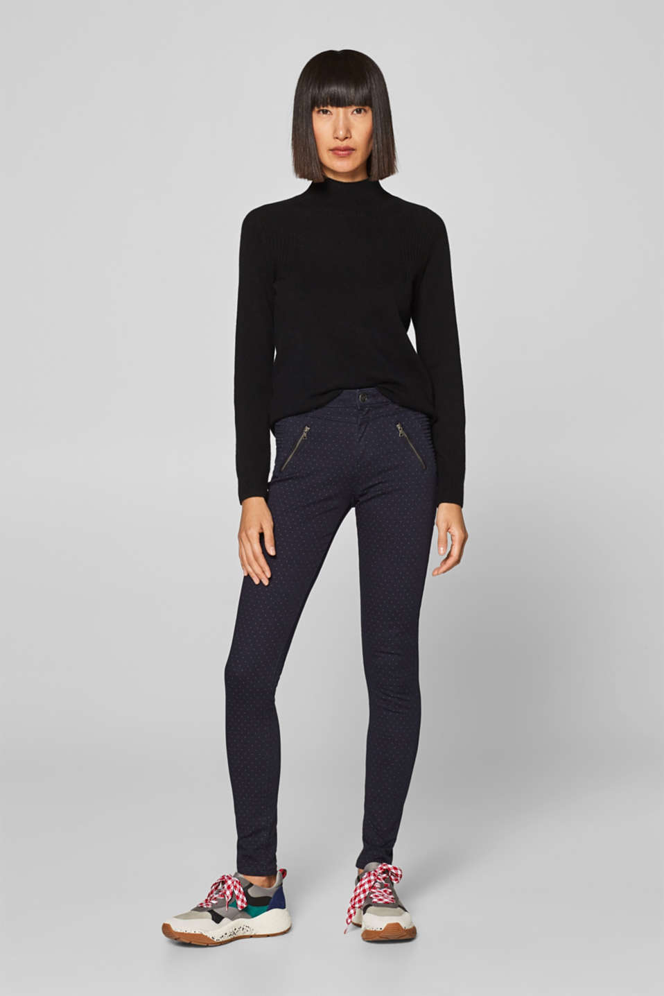 Esprit - Shaping broek met stretch en ritsen