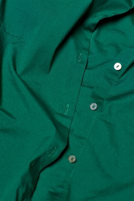 Stretch cotton blouse with organic cotton, DARK GREEN, detail
