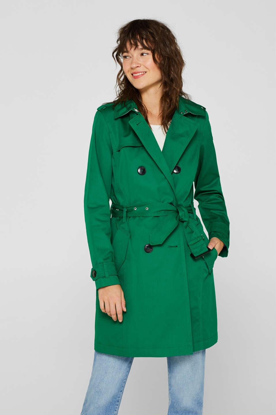 7f9b731b0b6e Esprit   Trench-coat en coton à ceinture à acheter sur la Boutique ...