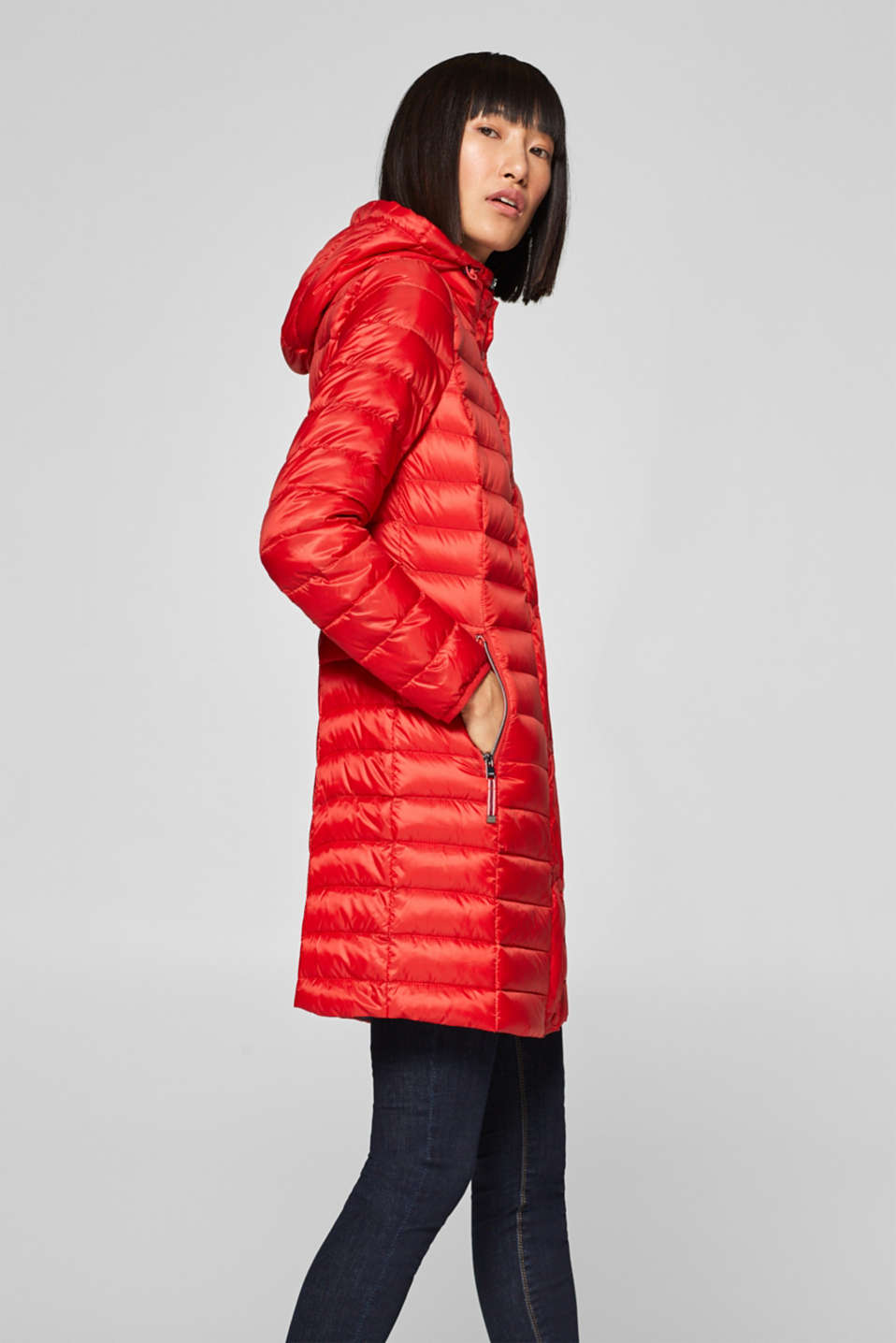 Esprit - Lightweight down coat with a hood