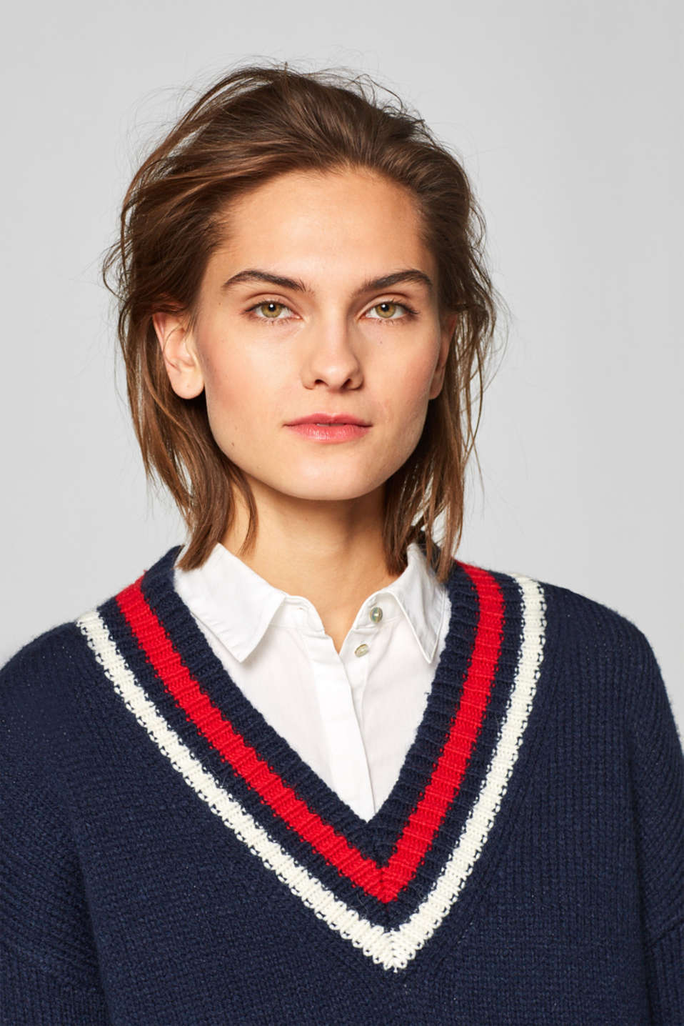 Esprit - With wool: Long college style jumper