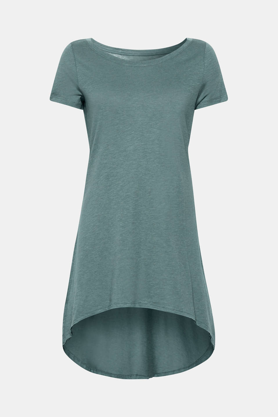 Esprit - Long T-shirt with a striking high-low hem