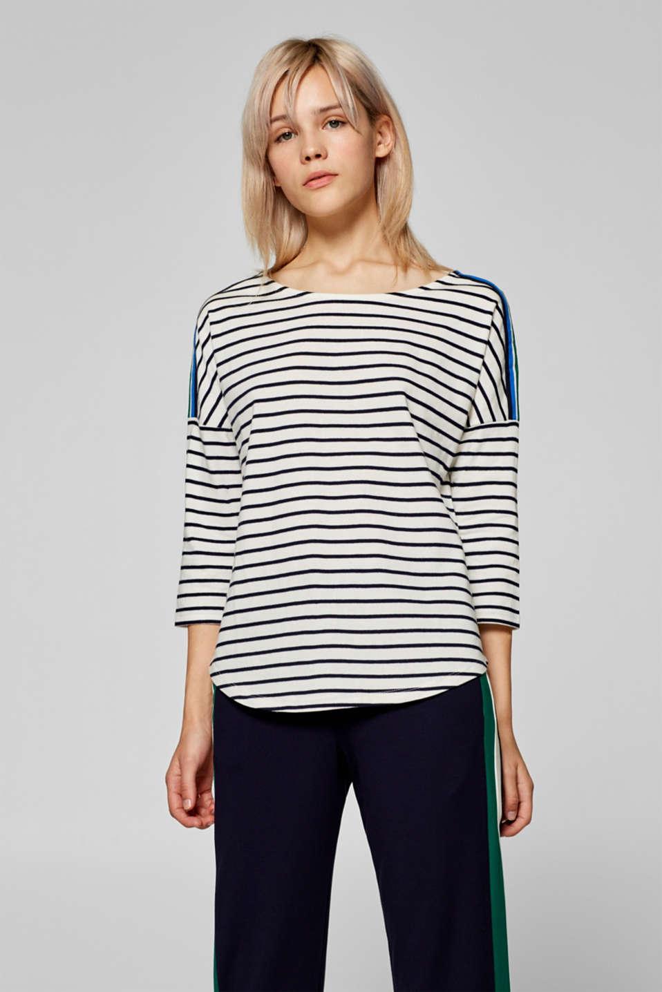 Esprit - Gestreiftes Boxy-Shirt mit Webbändern im Online Shop kaufen 93635818c8