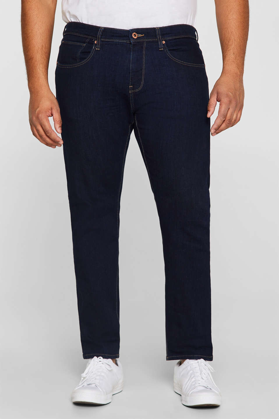 Esprit - Stretch jeans with washed-out effects