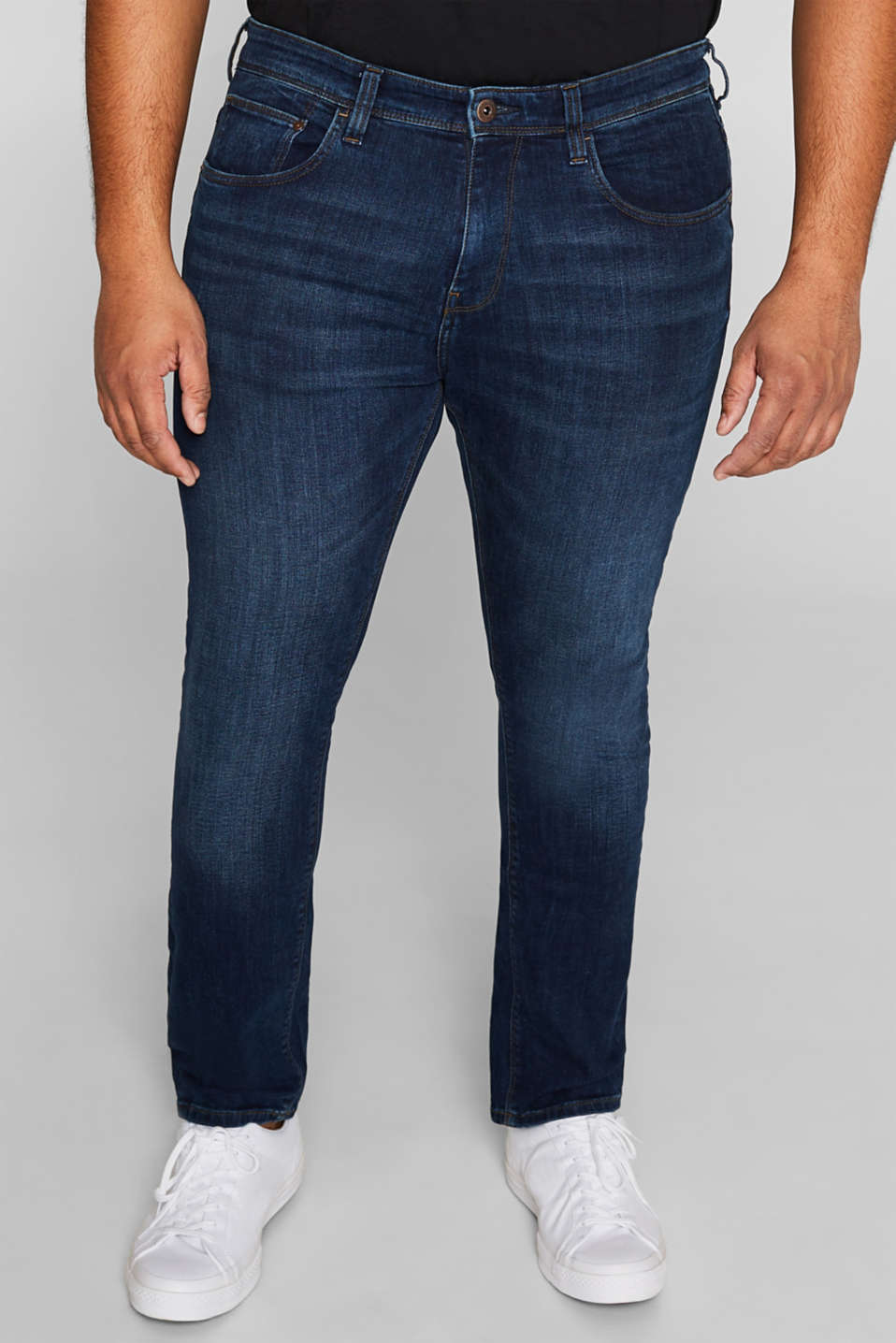Esprit - Stretch jeans with tobacco stitching