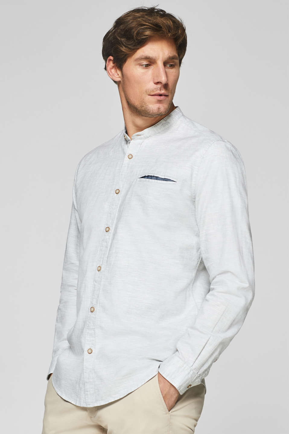 Esprit - Skjorta med ståkrage 8437c5c293544