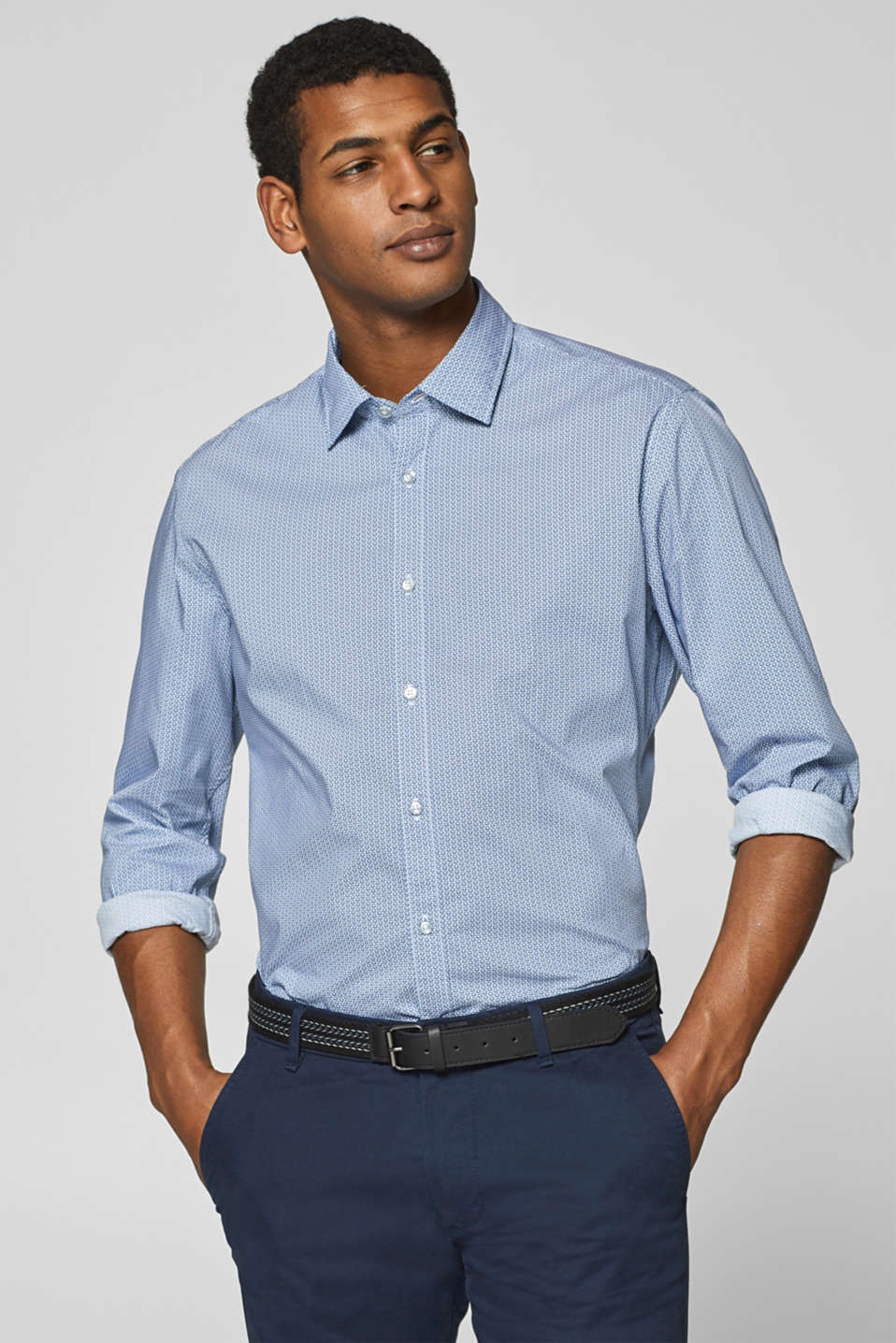 Esprit - Shirt with an all-over print and COOLMAX® technology