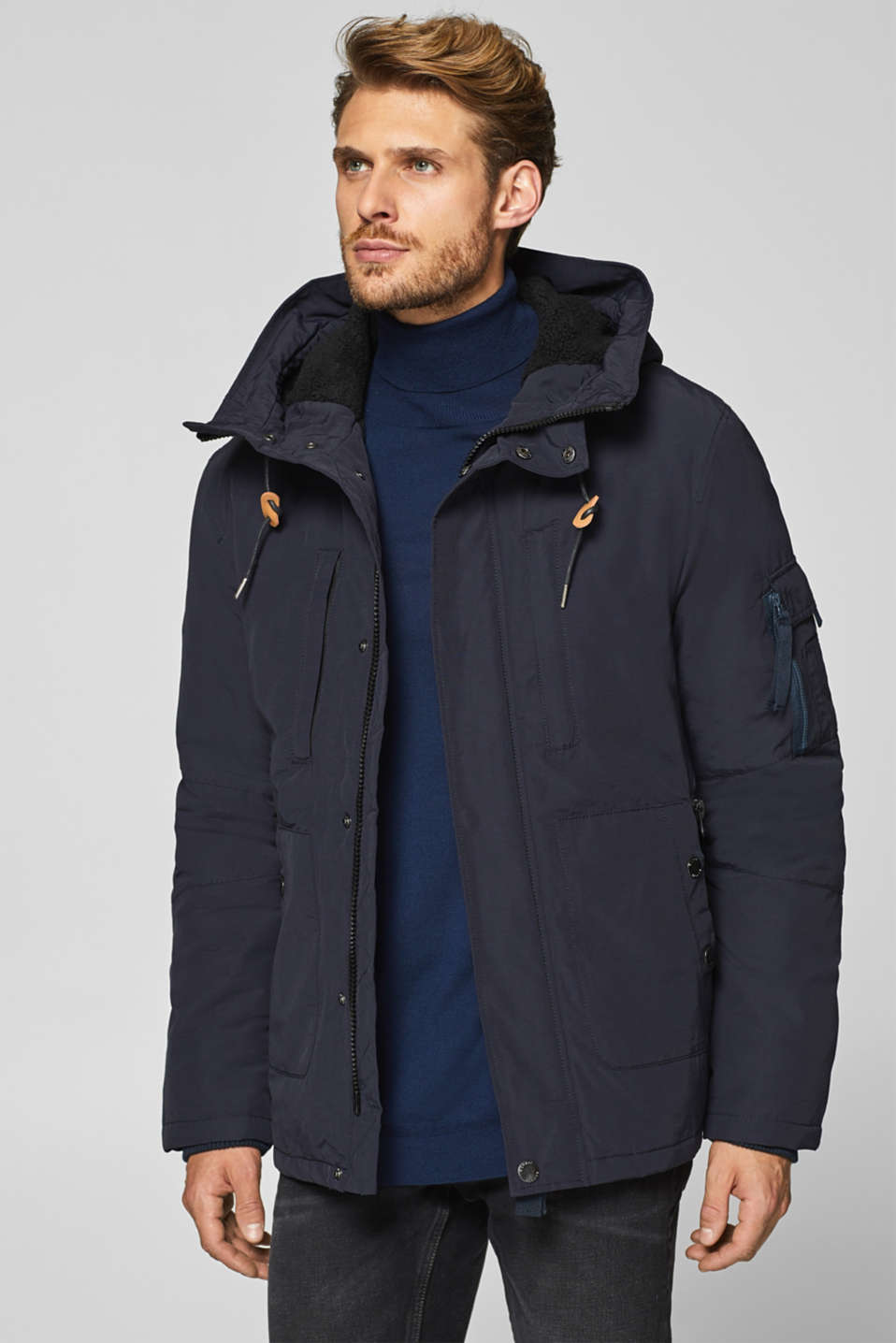 Esprit - Parka with teddy fur lining