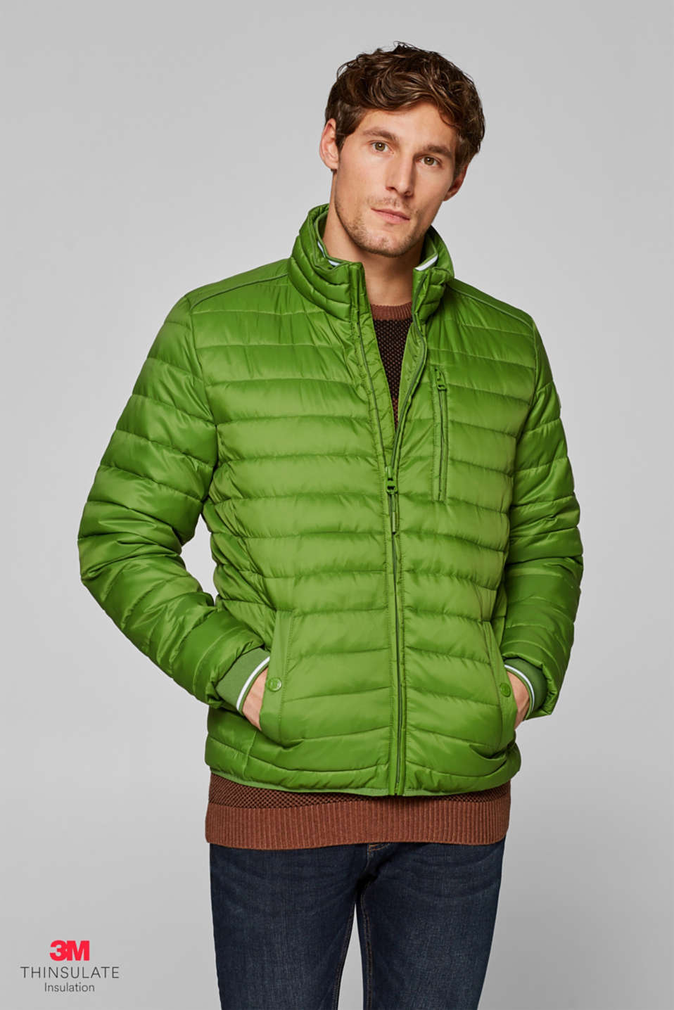 Esprit - Quilted jacket with 3M® Thinsulate® padding