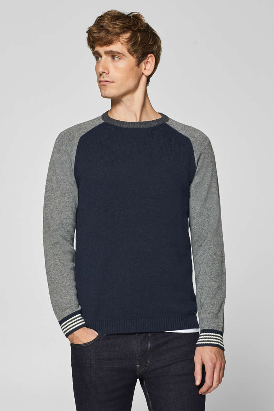 Esprit - Blended wool: raglan sleeve jumper