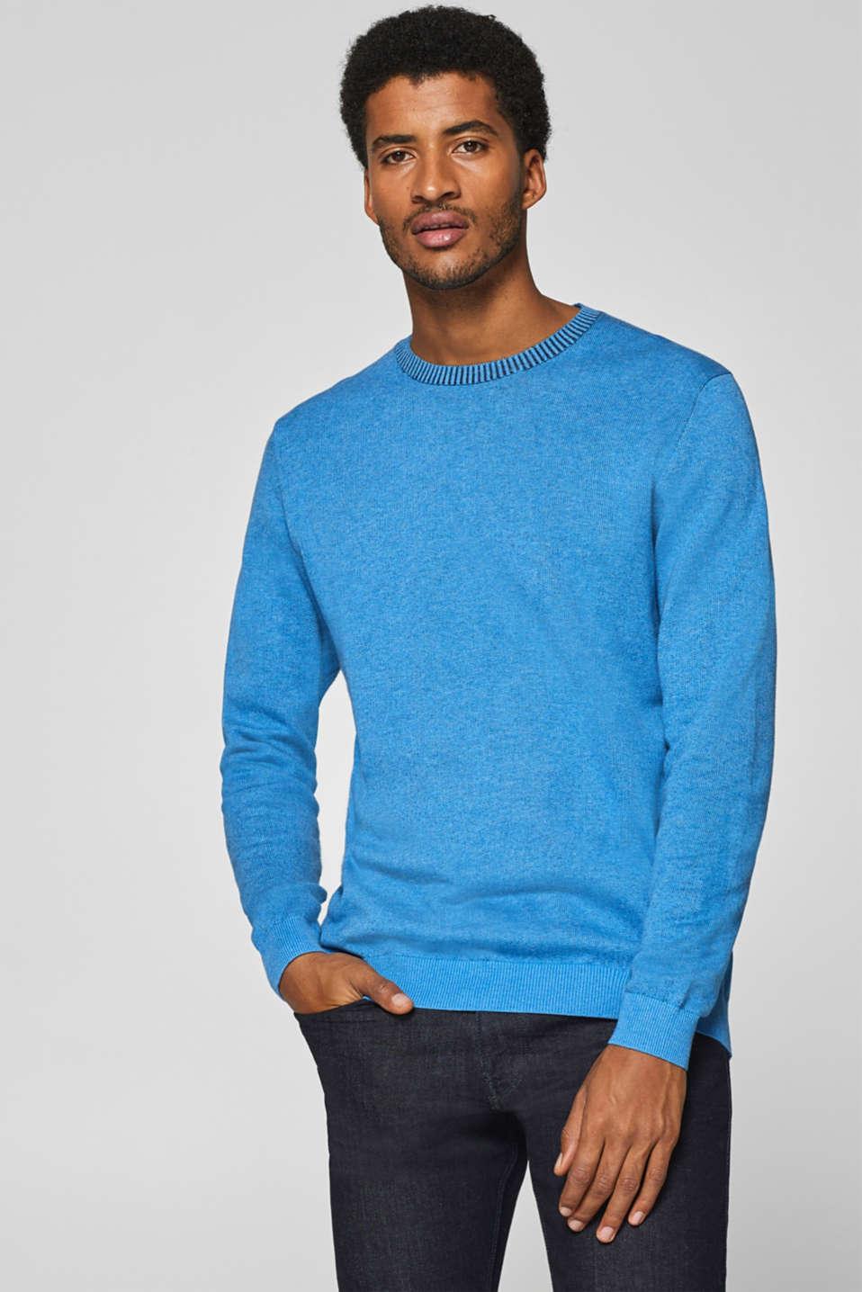 À Boutique Sur La 100 Over Esprit Acheter Pull Coton Bicolore nwqTggUWH
