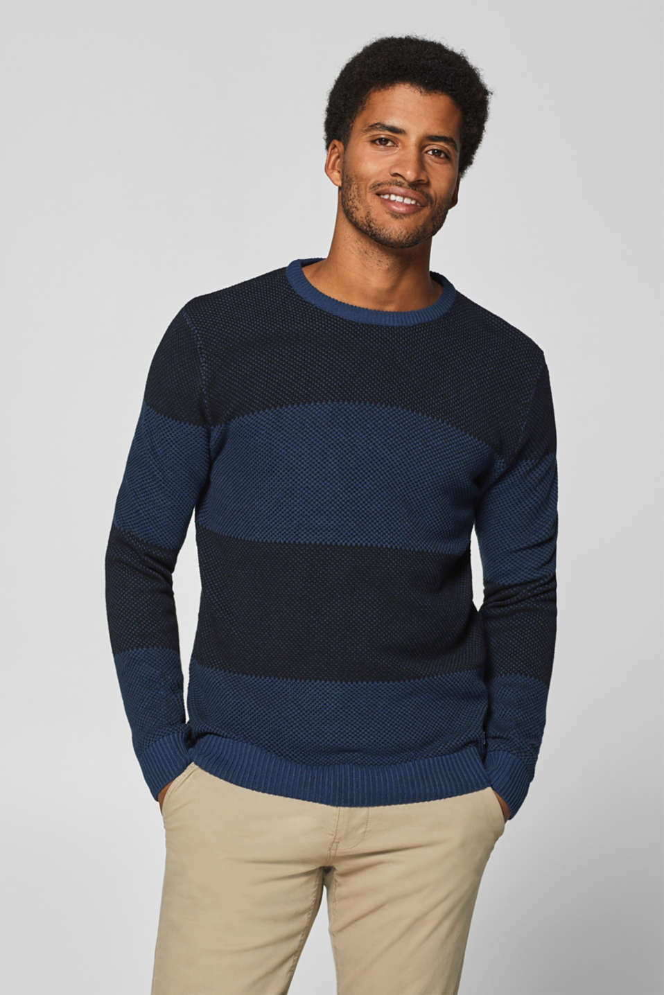 Esprit - Striped sweatshirt in 100% cotton