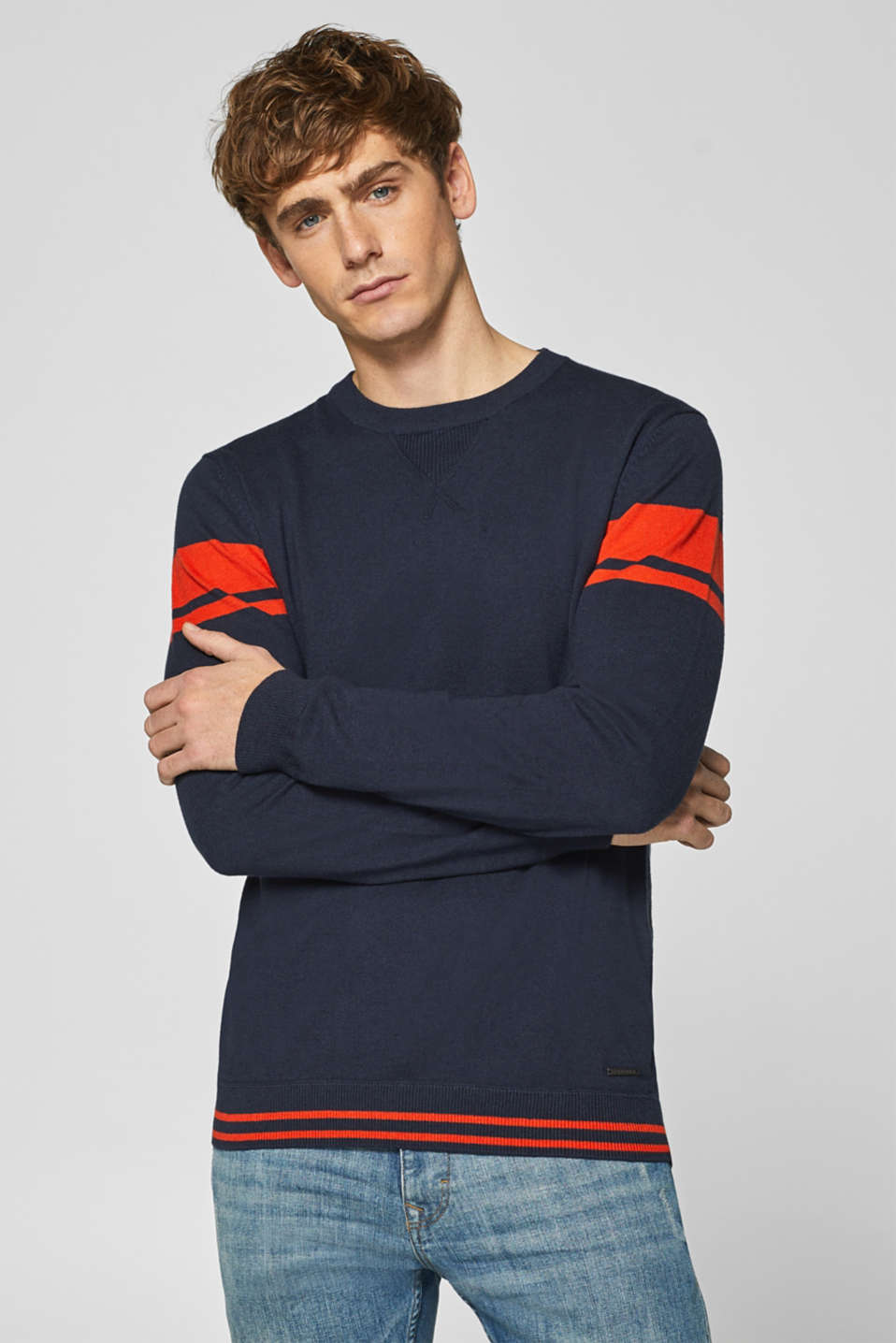 Esprit - With wool: jumper with striped details