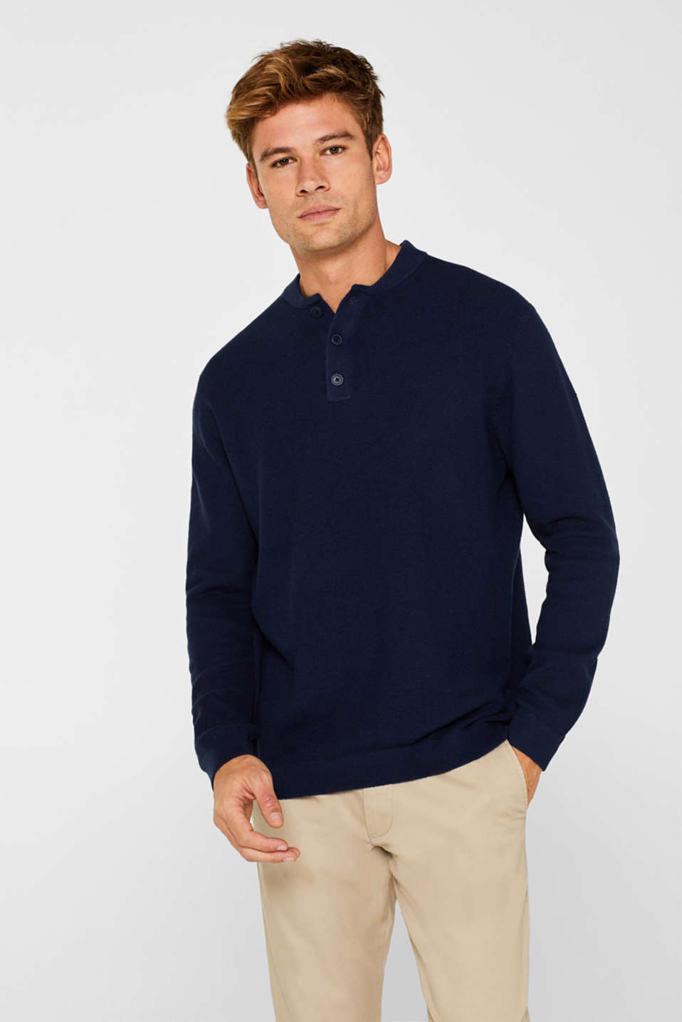 Esprit - With cashmere: Jumper with texture