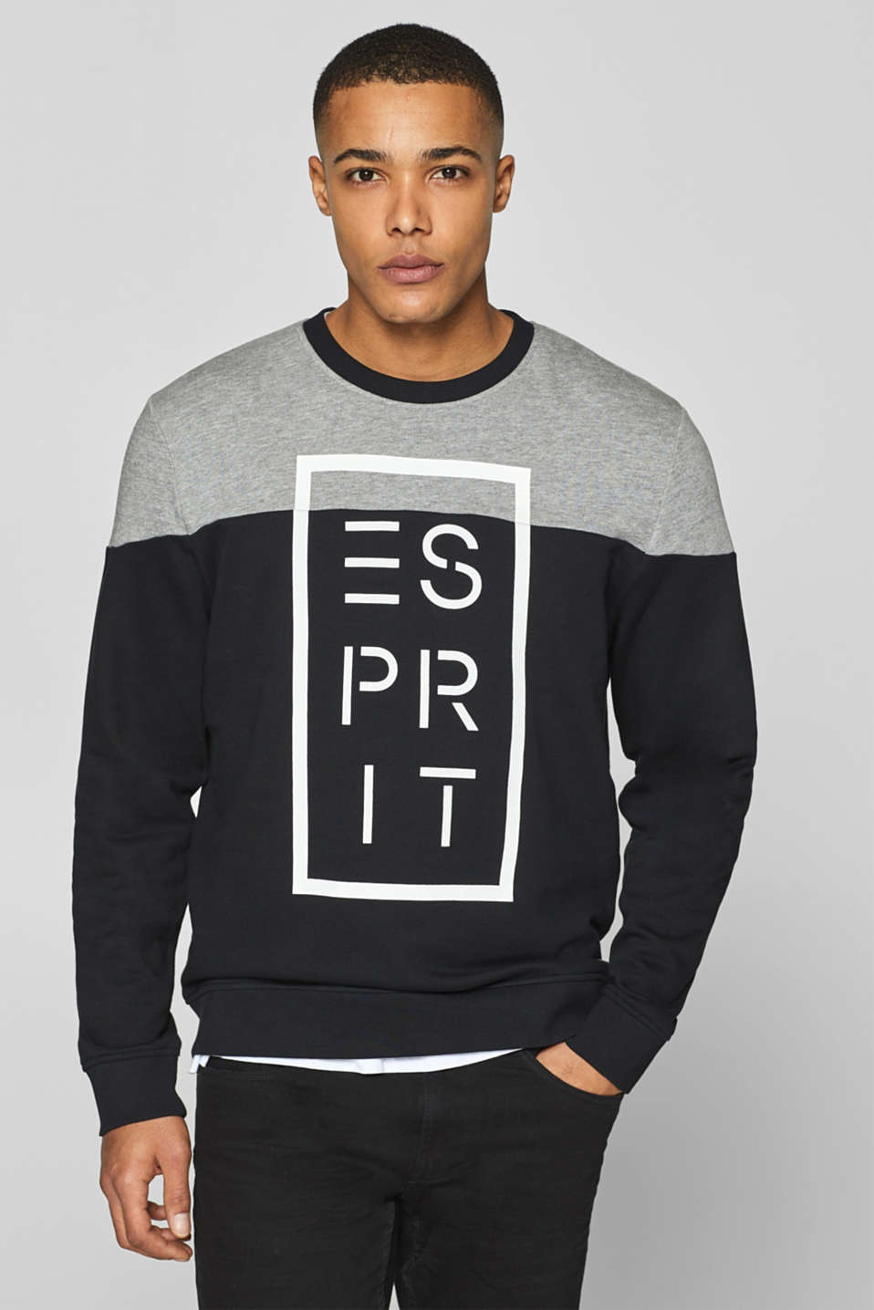 Esprit - Logo sweatshirt in 100% cotton