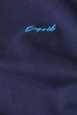 Piqué polo shirt with accents, 100% cotton