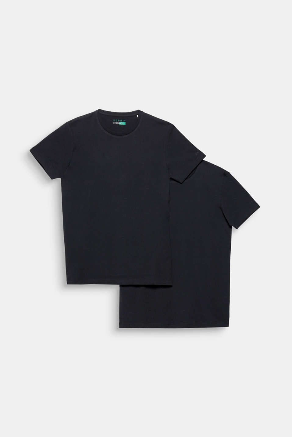 Double pack of jersey tees containing organic cotton, BLACK, detail image number 6