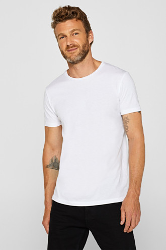 Double pack of jersey tees containing organic cotton