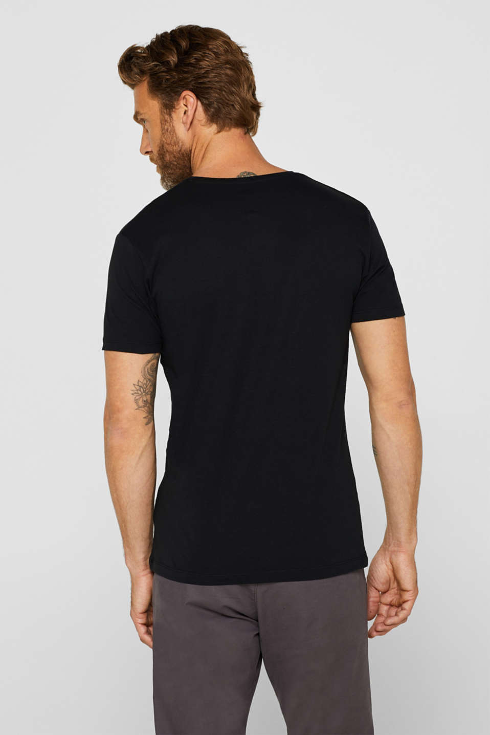 Double pack of jersey tees containing organic cotton, BLACK, detail image number 3