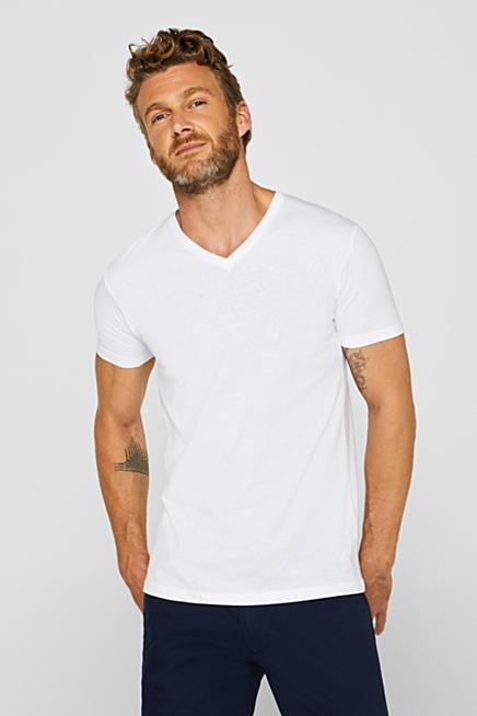 2er-Pack Jersey-Shirts mit Organic Cotton. Weiß WHITE  Schwarz fdb9682eeb