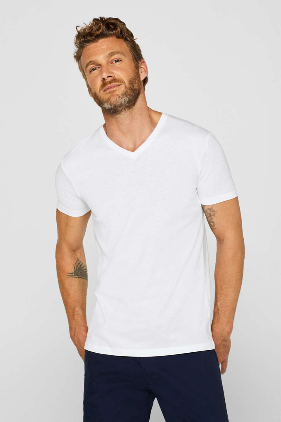 Esprit - Double pack of jersey tees containing organic cotton