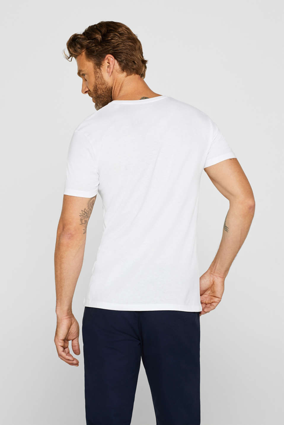 Double pack of jersey cotton tops, WHITE, detail image number 3