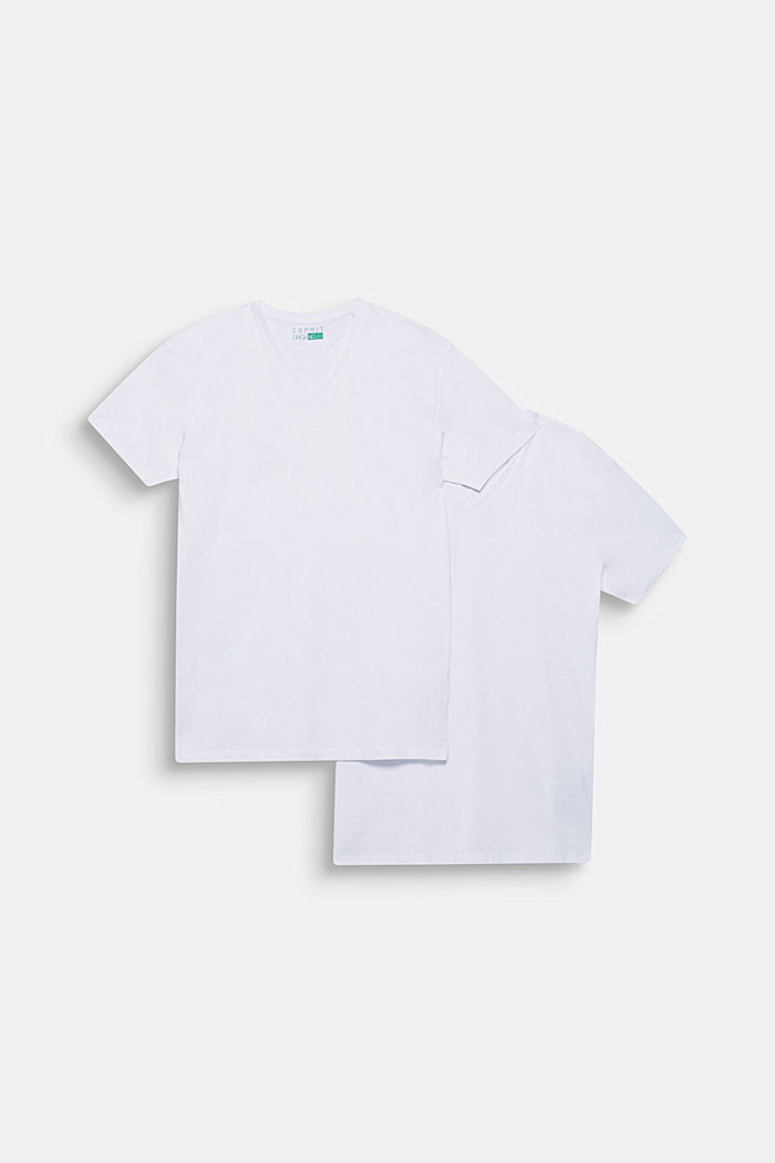 Double pack of jersey cotton tops, WHITE, detail image number 0