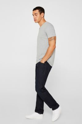 Double pack of jersey tees containing organic cotton, MEDIUM GREY, detail