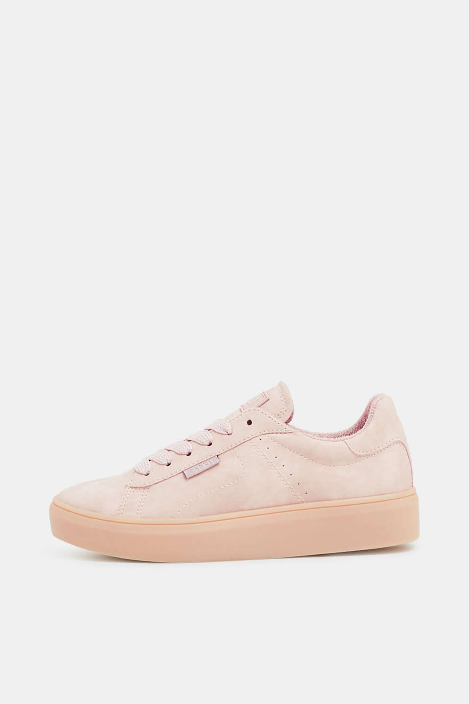 Esprit - Platform trainers in faux nubuck leather