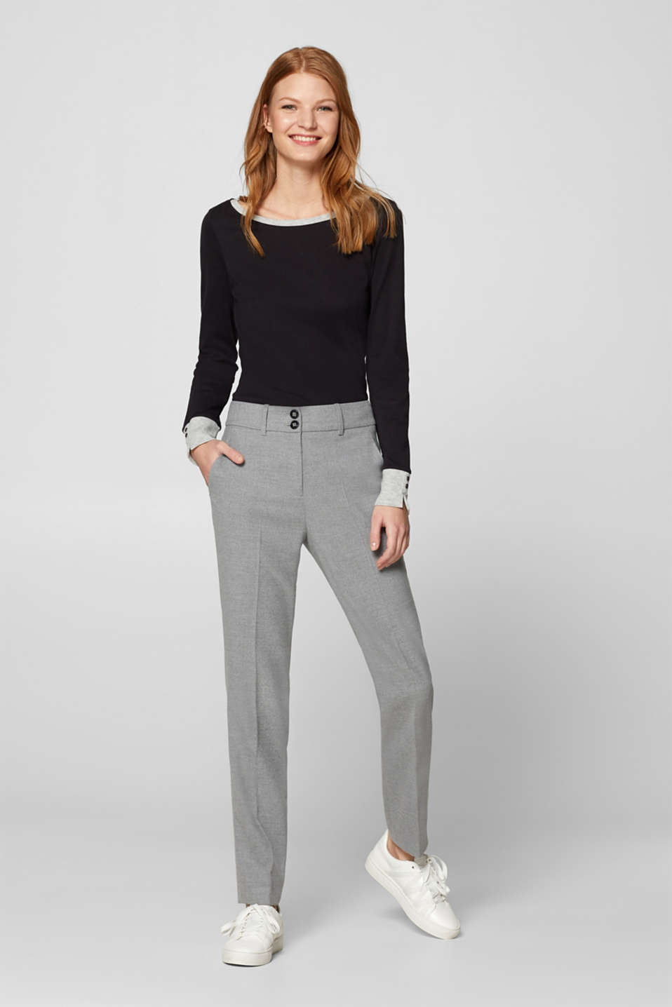 Esprit - FLANELL Mix + Match Stretch-Hose
