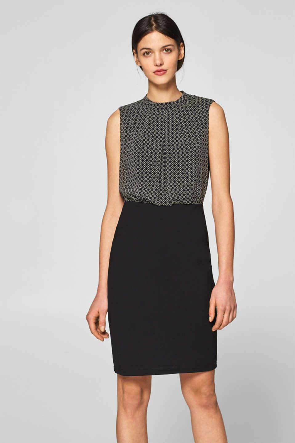 ca163388e1860e Esprit - Jerseykleid mit Chiffon-Top im Online Shop kaufen