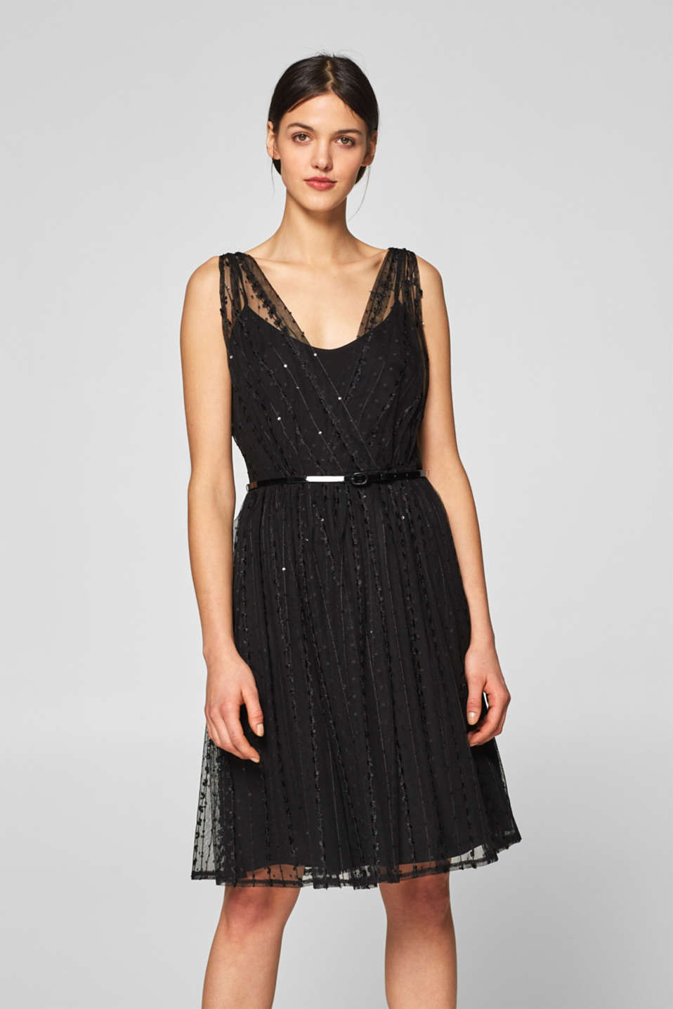 Esprit - Tulle dress with belt