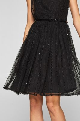 fa366a8d698 Esprit – Tylové šaty s opaskem v našem on-line shopu