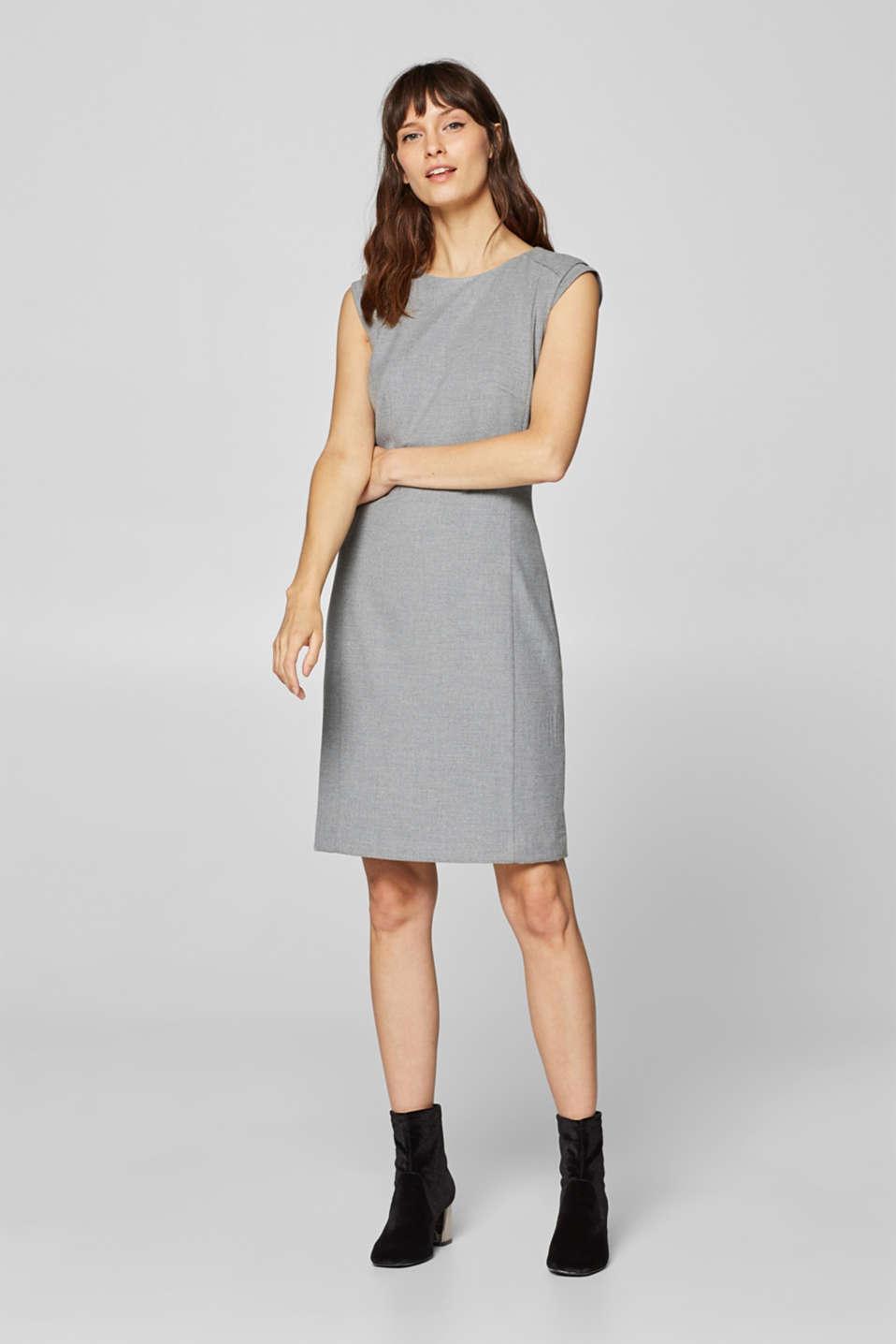 1a07f3c4cbd Esprit - FLONEL Mix + Match smal kjole med stretch i Esprits Online-Shop