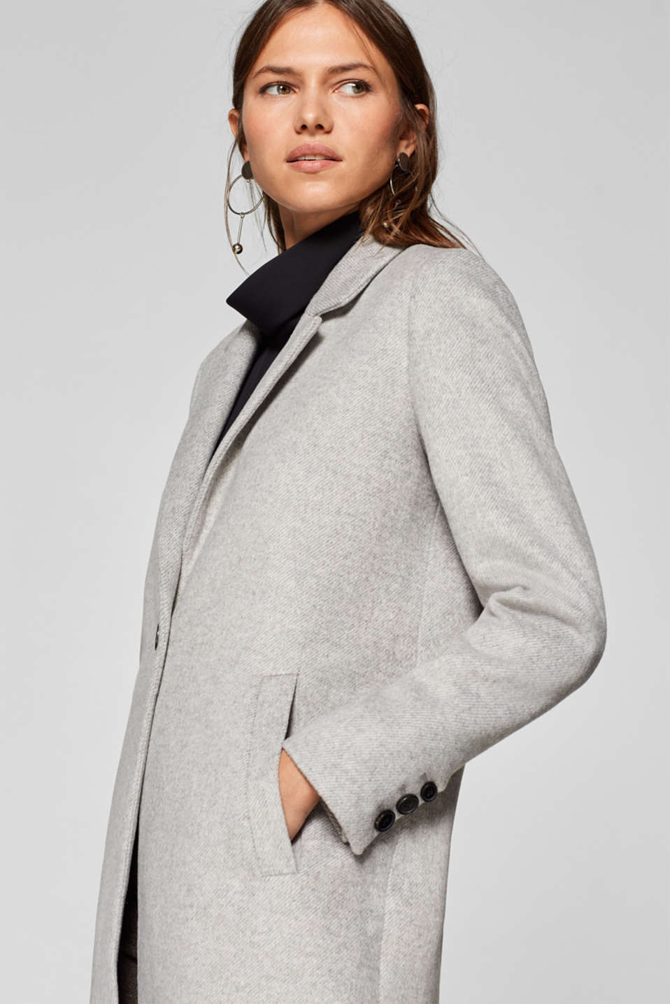 Esprit - With wool: timelessly modern blazer coat
