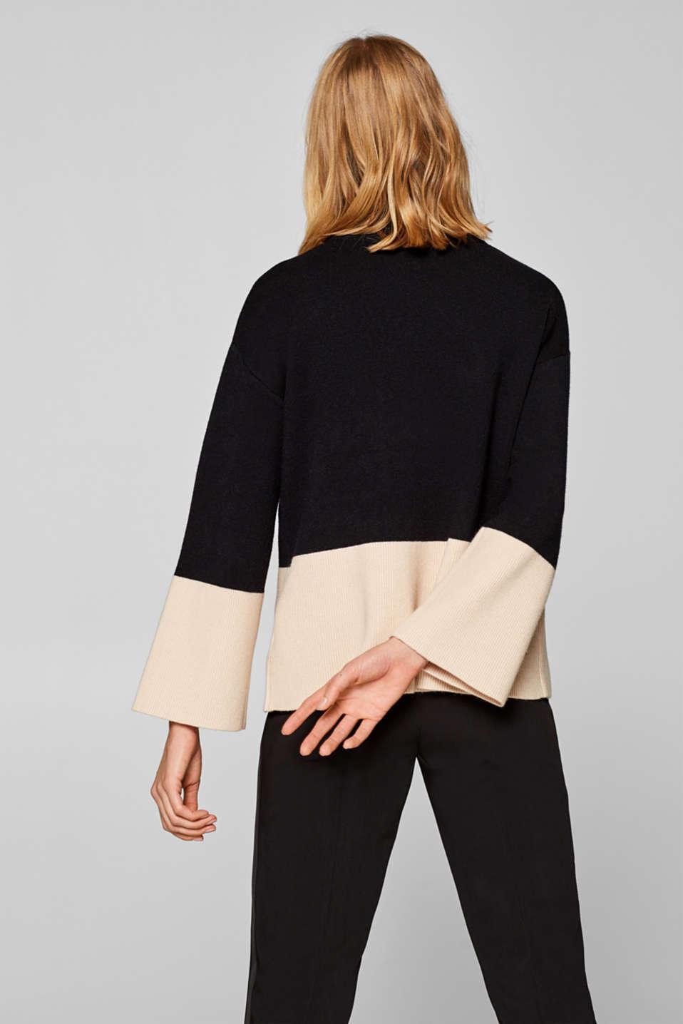 Sweaters, BLACK, detail image number 2