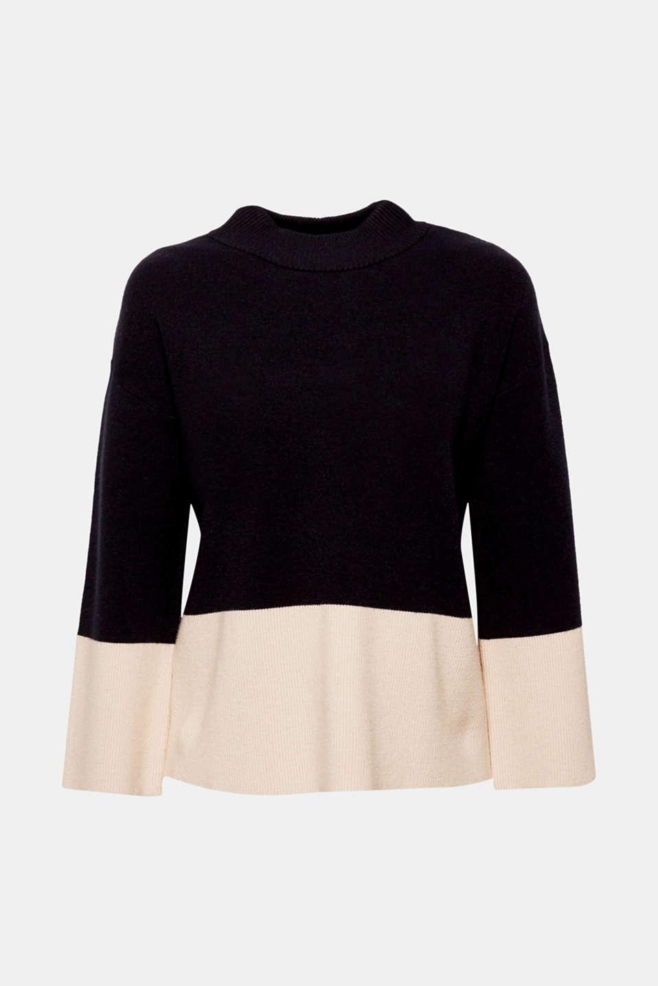 Sweaters, BLACK, detail image number 7