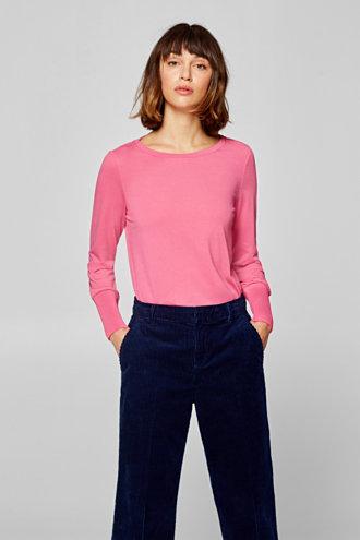 dd79d25984a Esprit – Tričko s dlouhým rukávem a plisovanými náplety v našem on-line  shopu